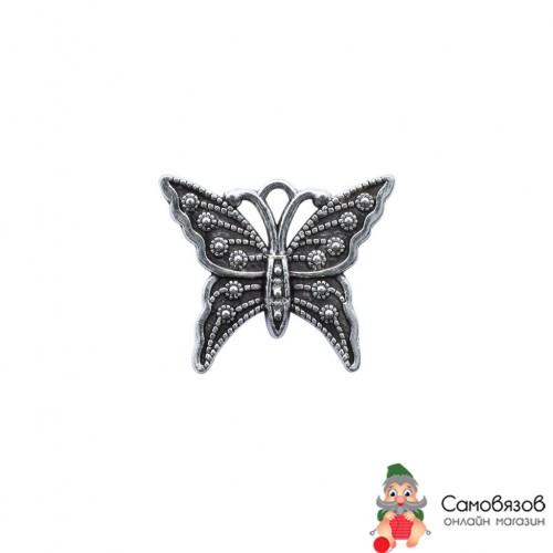 Подвеска 4AR043 металлическая бабочка