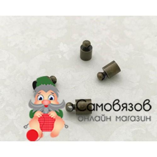 25595 Концевик для шнура 9х5мм, вн.диам. 4,5мм цв.бронза