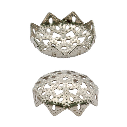 1514815 (СМ-036) Шапочки для бусин серебро за 1 шт