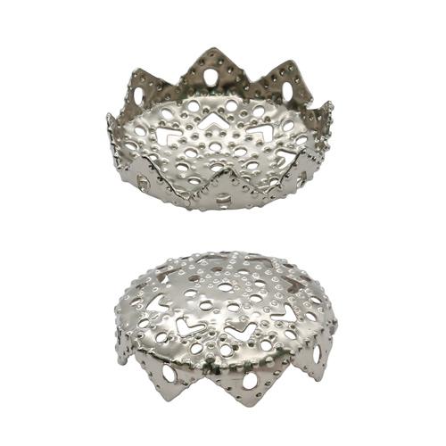 1514817 (СМ-037) Шапочки для бусин серебро за 1 шт