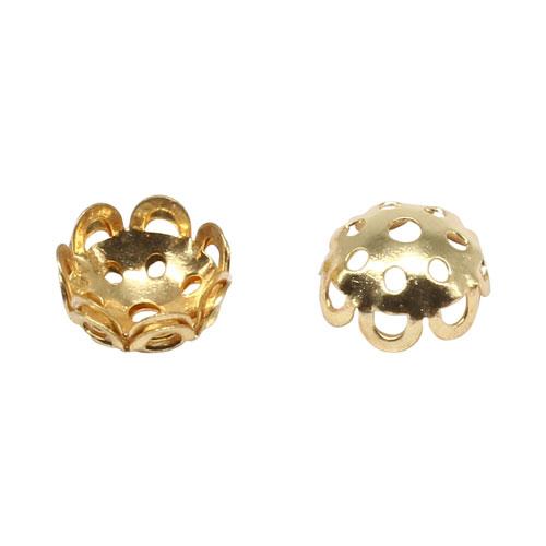 17-0002 Окончания (шапочки для бусин) золото 10*5мм цена за 1 шт