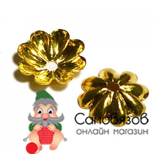 17-0008 Окончания (шапочки для бусин) золото 7*2мм цена за 1 шт