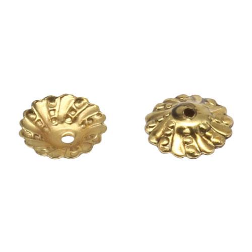 17-0010 Окончания (шапочки для бусин) золото 9*2мм цена за 1 шт