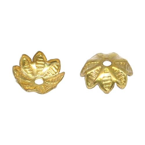 17-0014 Окончания (шапочки для бусин) золото 9*3мм цена за 1 шт