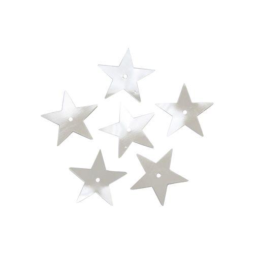 "Пайетки ""звездочки"" 20мм, ""Астра"" 10г (1 серебро; 10216100/080915/0043224, )"