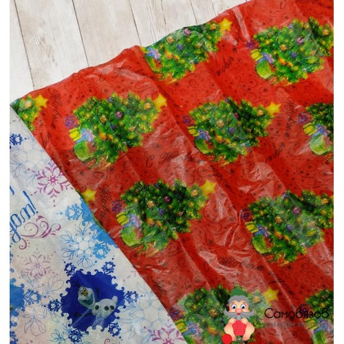 """Упаковка Бумага упаковочная тишью """"Новогодняя елка"""", 50х70 см, 20 г/м2"""