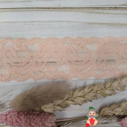 Текстильная галантерея Узкое эластичное (персик) ширина 4см. Цена указана за 10 см