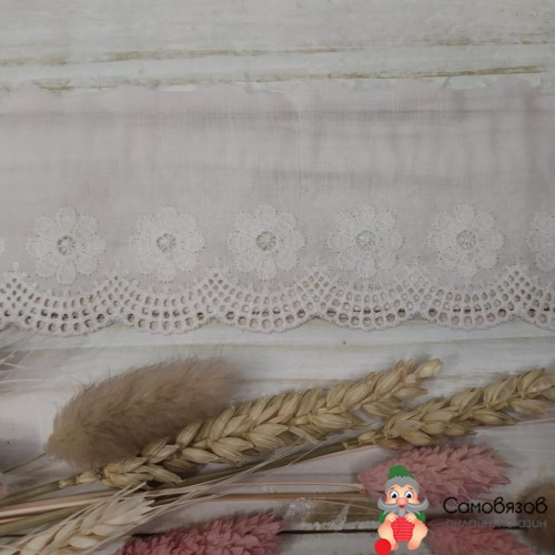 Текстильная галантерея Шитье бл.розовое Цена указана за 10см