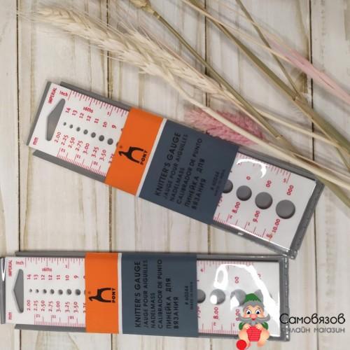 Аксессуары для вязания Линейка для измерения диаметра спиц