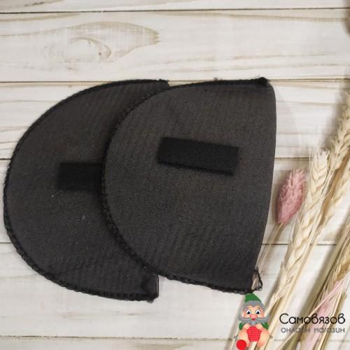 Аксессуары для одежды и обуви ВК-14/А Плечевые накладки втачные обшитые с конт.-лентой 14*100*150мм Hobby&Pro (черный)