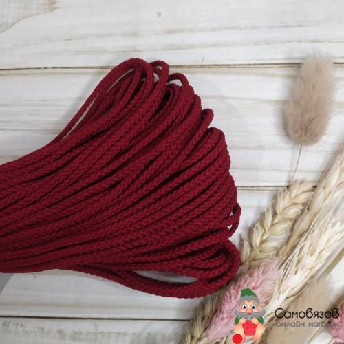 Текстильная галантерея С1048 Шнур отд. плетеный 3мм (бордо) цена за 10 см