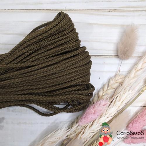 Текстильная галантерея С1048 Шнур отд. плетеный 4мм (оливковый) цена за 10 см