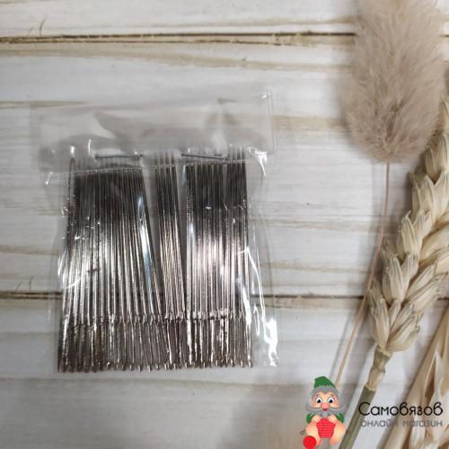 Принадлежности для шитья и рукоделия Иглы швейные ручные с увеличен. ушком, для 45мм. Цена за 1 иглу