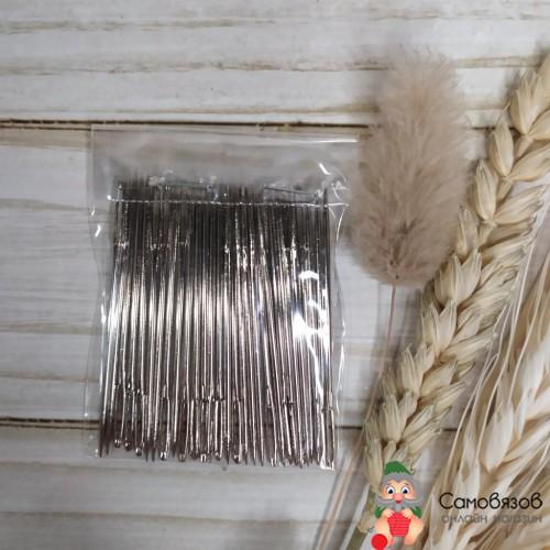 Принадлежности для шитья и рукоделия Иглы швейные ручные с увеличен. ушком длина 50мм. Цена за 1 иглу