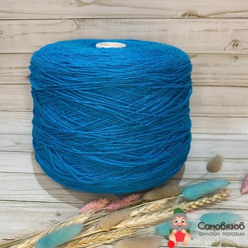 Пряжа 6962 голубо-бирюзовый / цена за 10 грамм
