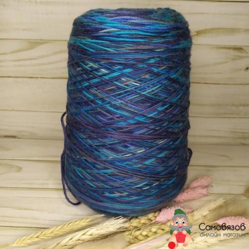 Пряжа 33 сине-голубо-сиреневый / цена за 10 грамм