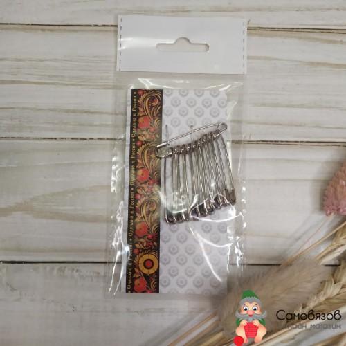 Принадлежности для шитья и рукоделия Булавки английские 35 мм 10 шт цвет никель за упаковку