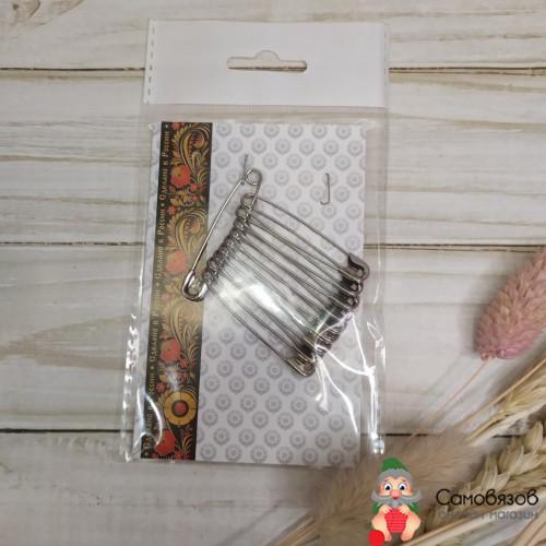 Принадлежности для шитья и рукоделия Булавки английские 44 мм 10 шт цвет никель за упаковку