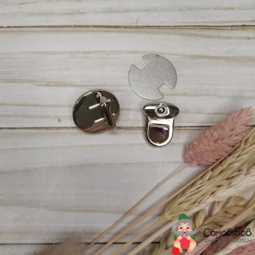 Фурнитура Застёжка для сумки, 25 x 25 см цвет серебряный