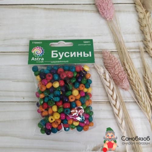 Товары для изготовления бижутерии Набор деревянных бусин 5х6мм 280шт/упак цв.разноцветные
