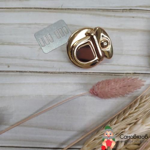 Фурнитура Застёжка для сумки 3 x 3 см цвет золотой