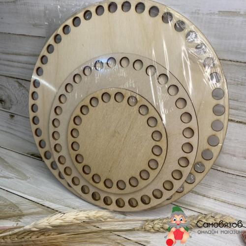 """Творчество Набор заготовок для вязания """"Круг"""", донышко фанера 3 мм (3 в 1), 10/15/20 см d=9мм"""
