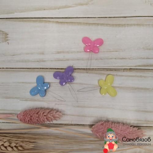 Принадлежности для шитья и рукоделия Нитевдеватели «Бабочка», 3,5 x 2,2 x 0,2 см, цвет МИКС