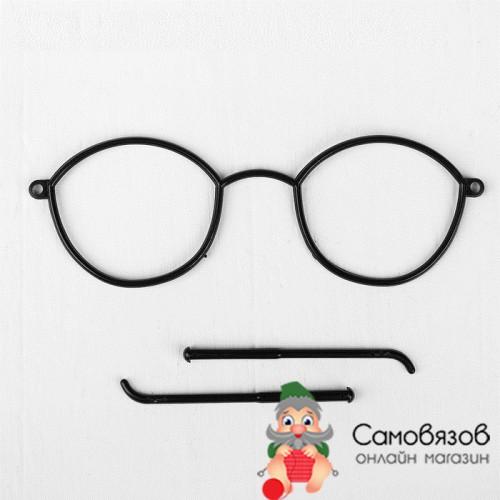Очки для игрушек, цвет чёрный