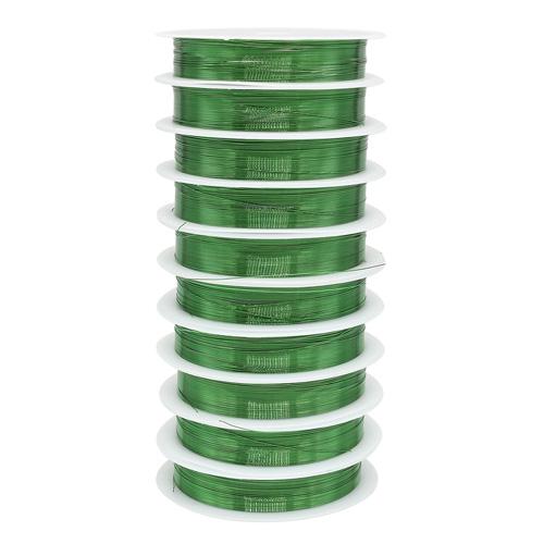 Фурнитура для бижутерии Проволока на катушке 09Е04, 0215-2550 d0,3мм *10м, (зеленый)