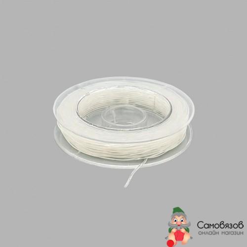 Товары для изготовления бижутерии Нить силиконовая для бисера 08мм 10м (прозрачный) (за 1 катушку)