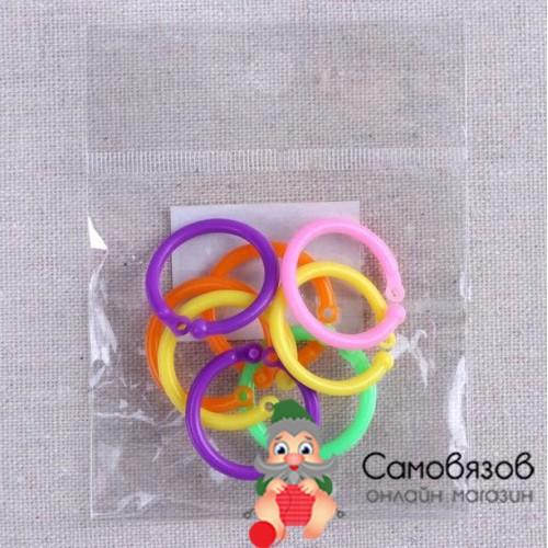 Аксессуары для вязания Маркер для вязания (кольцо), Набор 10 шт, цвет МИКС