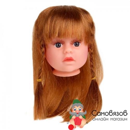 Аксессуары для кукол Волосы для кукол «Косички» размер средний цвет каштановый
