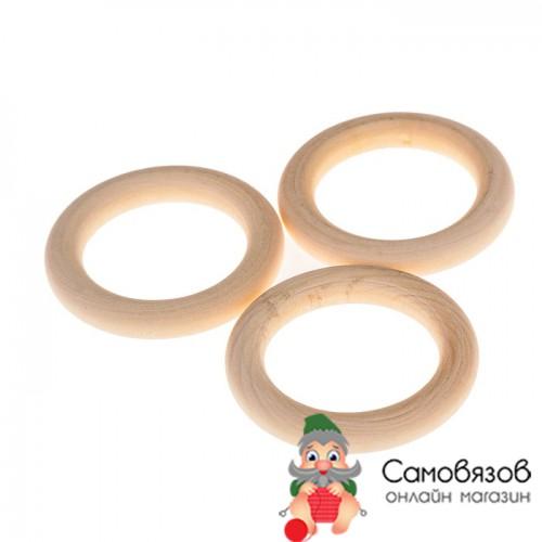 Товары для изготовления бижутерии Кольца деревянные (бусины) d=50 мм без покрытия (цена за 1 шт)