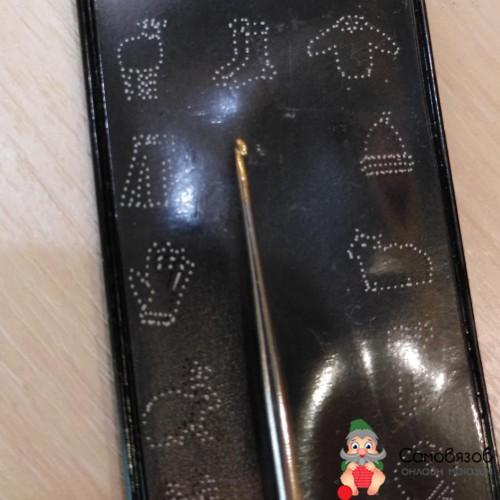 Крючки для вязания Крючок вязальный, экстратонкий, сталь, №1,25, 13 см