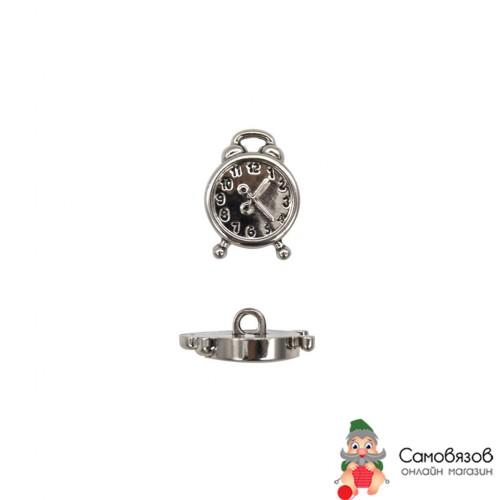 Пуговицы 57903 Пуговица 'Будильник', 21 мм Серебро (цена за 1 шт)