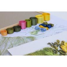 Творчество Набор. Вышивка лентами «Краски лета» размер 20x30.