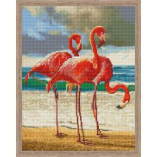 Творчество Алмазная мозаика «Танец розовых фламинго» 30x40см.