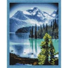 Творчество Алмазная мозаика «Горное озеро» 40x50 см.