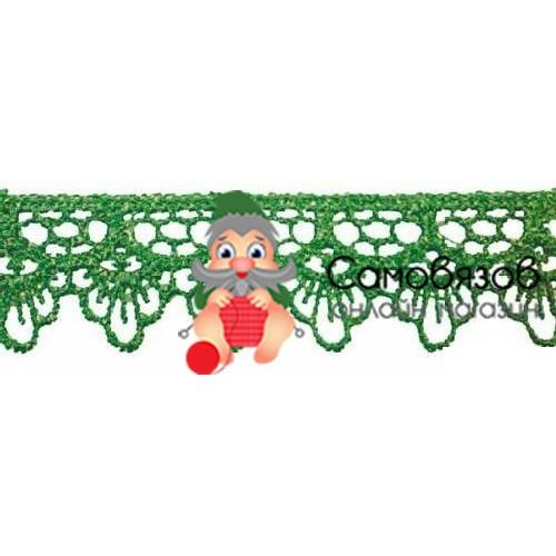 Кружево вязан. 2,0см*13,71м 0575-1059 (А628 зеленый; 10216100/120415/0006838,)