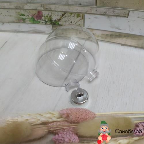 Творчество Заготовка, подвеска «Шар со съёмной пуцкой», раздельные части, диаметр в собранном виде: 8 см