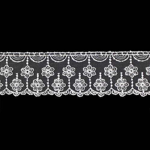 Кружево 0574-2079 на сетке 5,8см*13,71м (белый; 10216110/100217/0004737,)