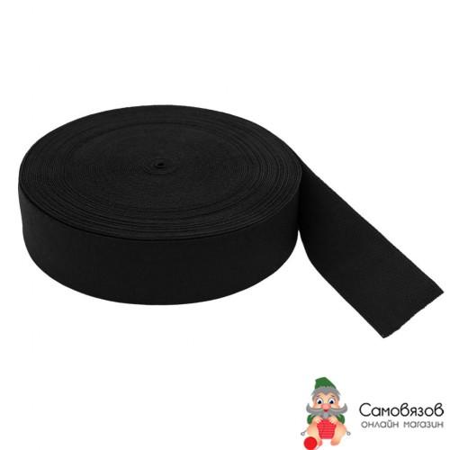 Резинка Лента тканая эласт. 40мм*20м черная (Арг) Цена за 10 см