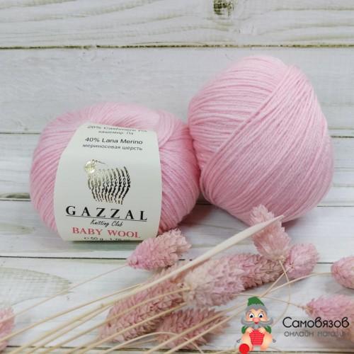 Пряжа 836 нежно-розовый