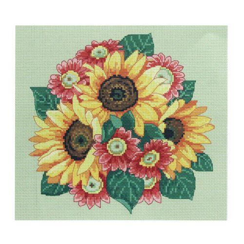 """Канва РК-105 с рисунком Hobby&Pro """"Цветок солнца"""" 35*35см (--, --)"""