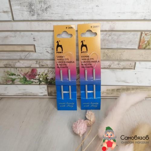 Аксессуары для вязания 26801 для вязанных изделий 7,5 см, с петлей, алюминий с покрытием, Цена за 1 иглу