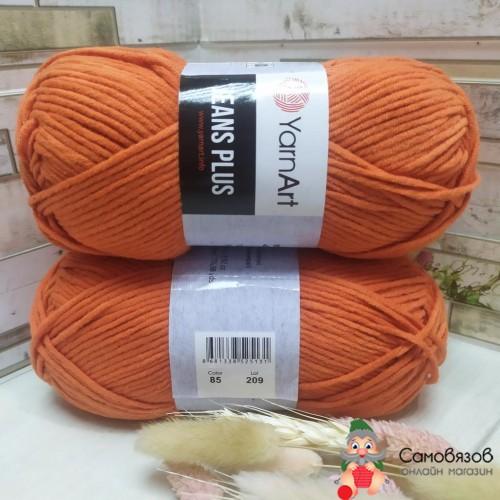 Пряжа 85 морковный