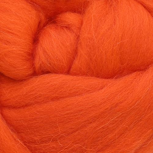 Валяние Шерсть для валяния полутонкая, 50 гр. (1623 оранжевый)