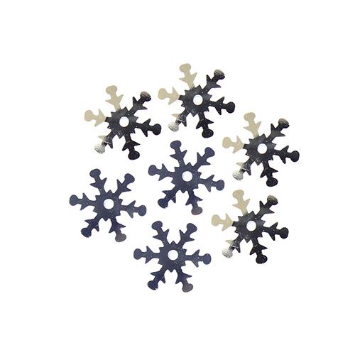 """Пайетки """"снежинки"""" 13мм, 10г (1 серебро)"""