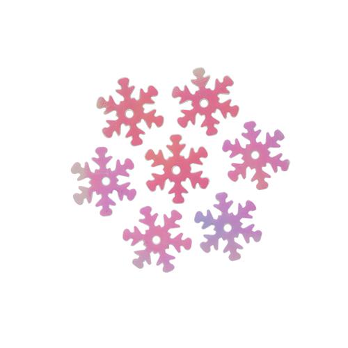 "Пайетки ""снежинки"" 13мм, 10г (319 св.-розовый перламутр)"