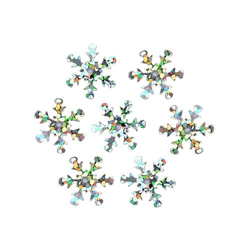 """Пайетки """"снежинки"""" 13мм, 10г (50112 серебро голограмма)"""
